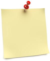 gelbes Notizblatt