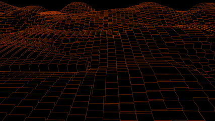 Orange random wave effect against black background