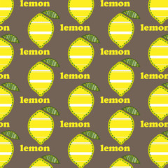 Pattern with lemons