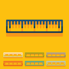 Flat design: ruler