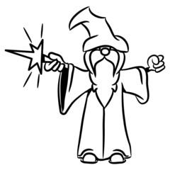 zauberer Zauberstab Zaubehut