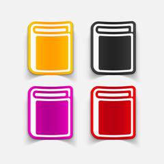 realistic design element: book