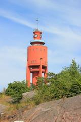 Der berühmte Wasserturm in der finnischen Stadt Hanko (Hangö)