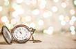 Leinwanddruck Bild - New year clock abstract backgroun