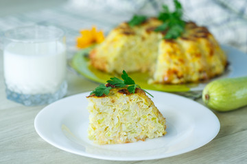 Rice casserole with zucchini
