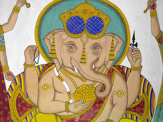Indian Artwork - Hindu God Ganesha - Udaipur