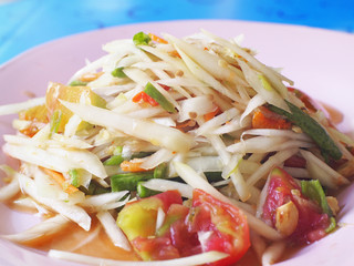 Somtam (Papaya Salad) - Traditional Thai food