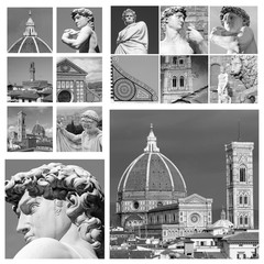 art of Florence collage