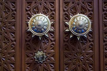Sultan Qaboos Grand Mosque door handle detail