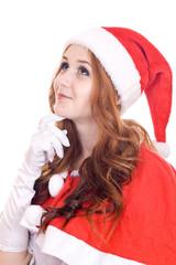 Smiling young christmas woman