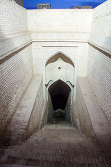 Entrance to an a underground aqueduct in Yazd, Iran