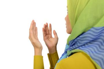 Woman In Hijab Praying