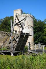 Pont levis de château fort