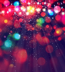 Colorful Christmas lights  background.
