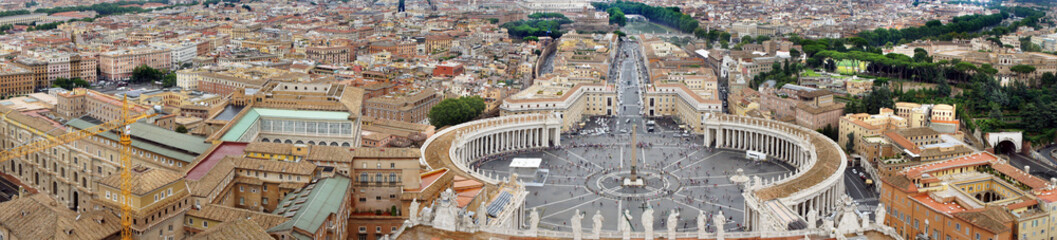 Beautiful panorama of Vatican, Italy