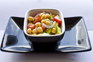 Garbanzo Bean Salad. A fresh chickpea salad