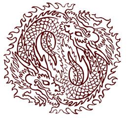 tao draghi yin yang