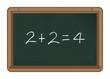 Chalkboard: 2+2=4