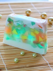 Soap with natural ingredients