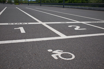 Race symbol Track on asphalt.