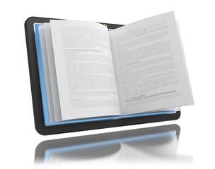Electronic book. E-reading. E-learning