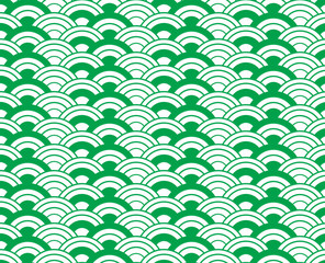 Green wave vector seamless patterns