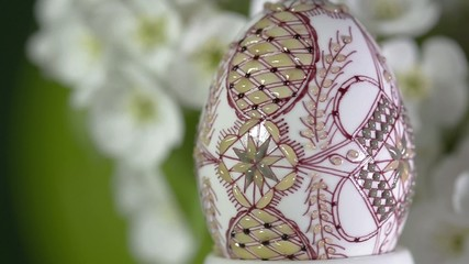 Easter wax painted egg