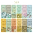 2015 Calendar set with vertical banners or cards