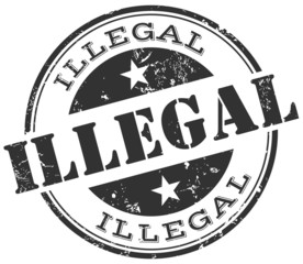 illegal stamp