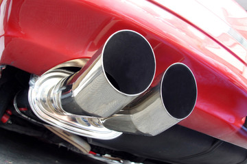 Car exhaust muffler