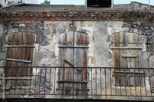 canvas print picture Verlassenes Haus