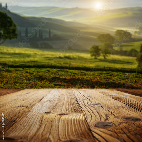 wood textured backgrounds on the tuscany landscape - 68486751