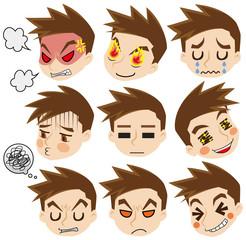 顔だけ男性の感情セット
