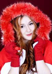 Beautiful girl and Christmas spirit