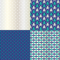 Blue Holiday Patterns
