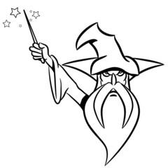 zauberer Zauberhut Zauberstab GRIMMIG