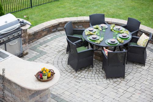 Elegant outdoor living space - 68487943