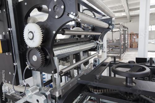 Leinwanddruck Bild Packaging machine