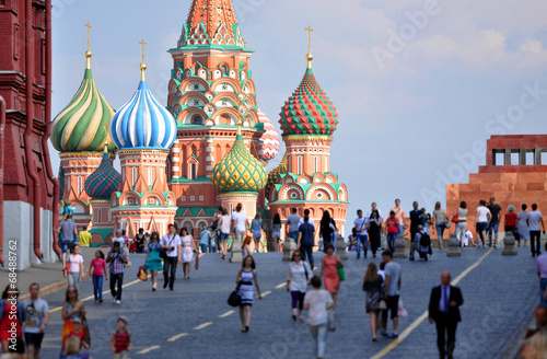 Tuinposter Oost Europa Red Square and St. Basil's Cathedral in Moscow