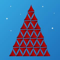 glossy ribbon texture christmas tree