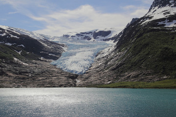 Engenbreen glacier seen from the coast