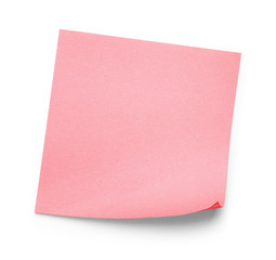 pink sticker on an isolated white background