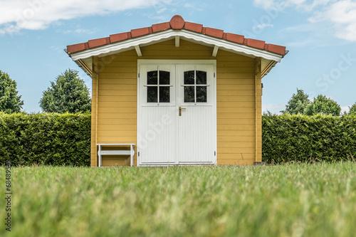 Fotobehang Tuin Garrtenhütte