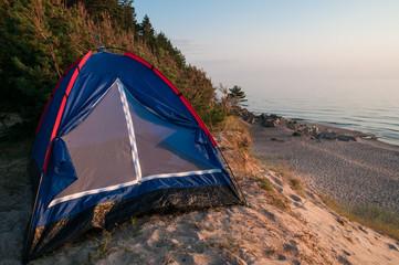 Tent on the coast