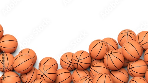 Fotobehang Sportwinkel Basketball balls isolated on white background