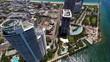 Aerial Miami Beach highrise condos