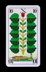 Spielkarten und Denkmäler - Grün Zehn -Brocken Hotel im Harz