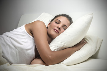 young woman being fast asleep