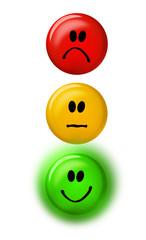 Smiley Rot-Gelb -Grün