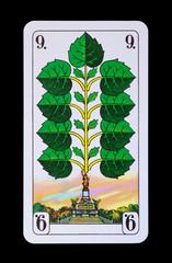 Spielkarten und Denkmäler  - Grün Neun - Niederwald Denkmal